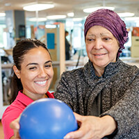 cancer rehabilitation patient with therapist